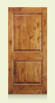 Interior Knotty Alder Two Panel Square Top V Groove 3 4 Raised Panel Kw305v L Door Store