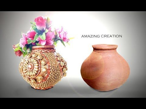 How To Decorate Pot At Home I Matki Decoration I Indian Festival I
