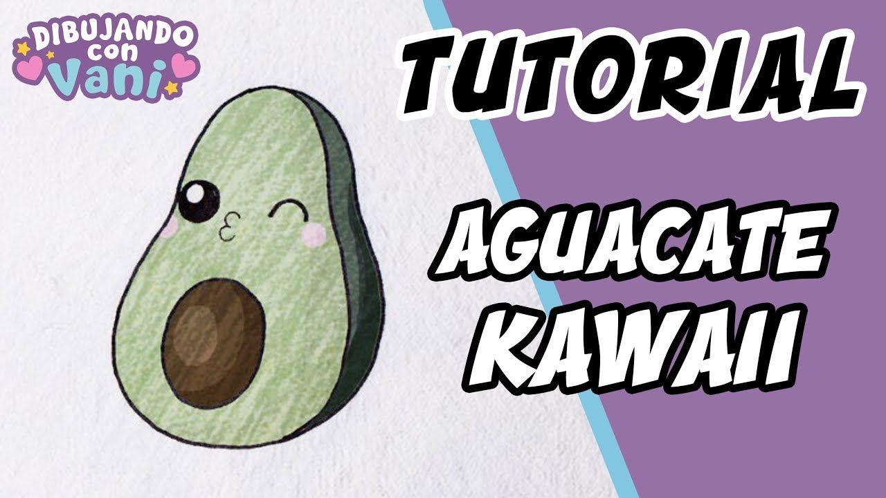Como Dibujar Un Aguacate Kawaii Draw A Avocado Kawaii Aguacate Como Dibujar Aguacate Dibujo