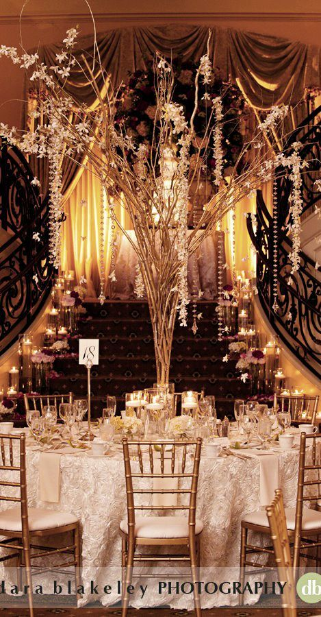 Great Gatsby Wedding Reception Tablescape Great Gatsby 1920s