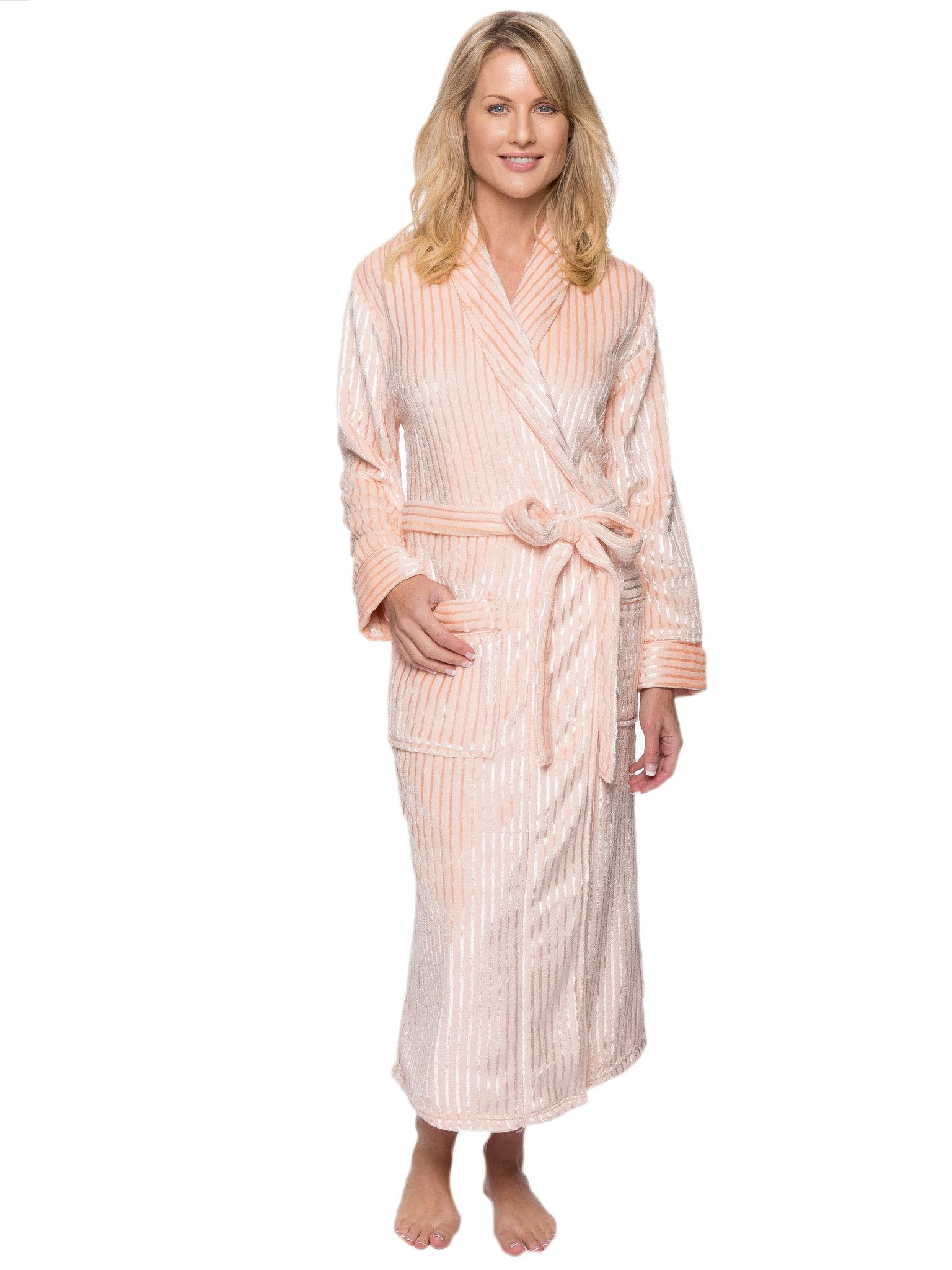 Long grey cotton velour dressing gown | Laurence Tavernier Women\'s ...