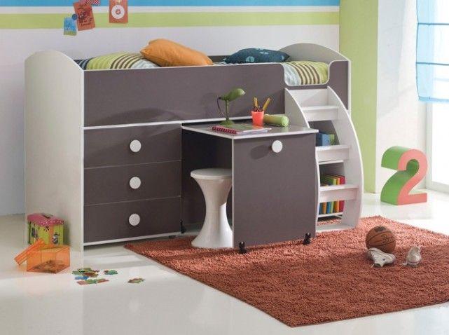 Lit bureau compact enfant chambre bébé lit bureau