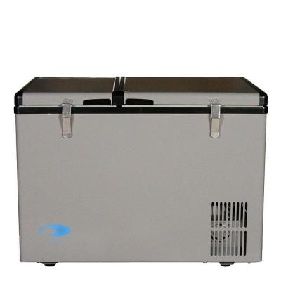 Whynter 2 Cu Ft 62 Qt Dual Zone Portable Freezer In Gray Fm 62dz Portable Refrigerator Portable Fridge Refrigerator Freezer