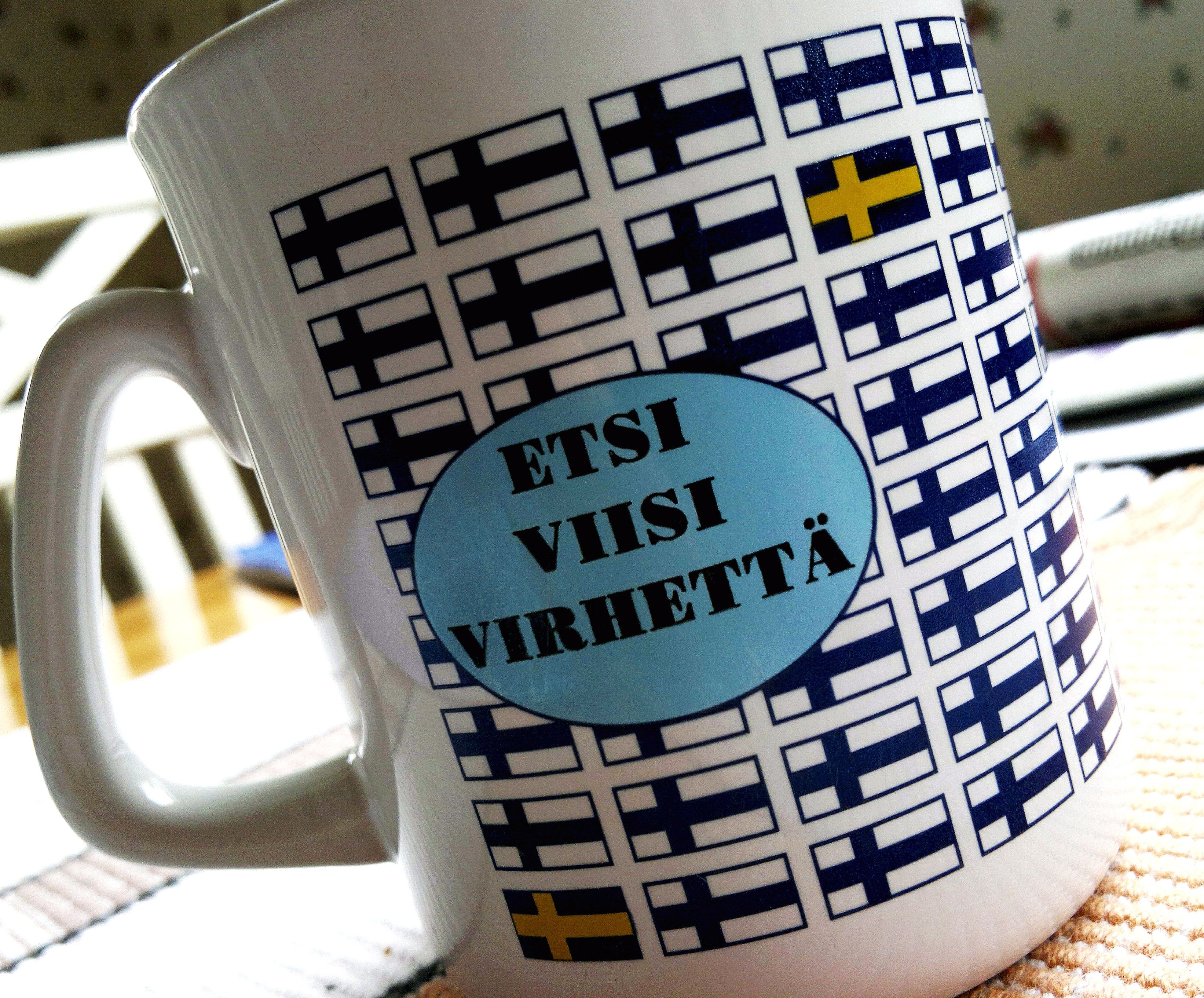 My Mug It Says Find 5 Mistakes And Those Mistakes Are Swedish Flags X Swedish Flag Finland Mugs