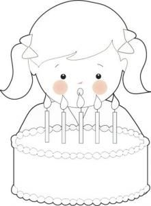 birthday girl coloring page | happy birthsday coloring | pinterest - Birthday Coloring Pages Girls