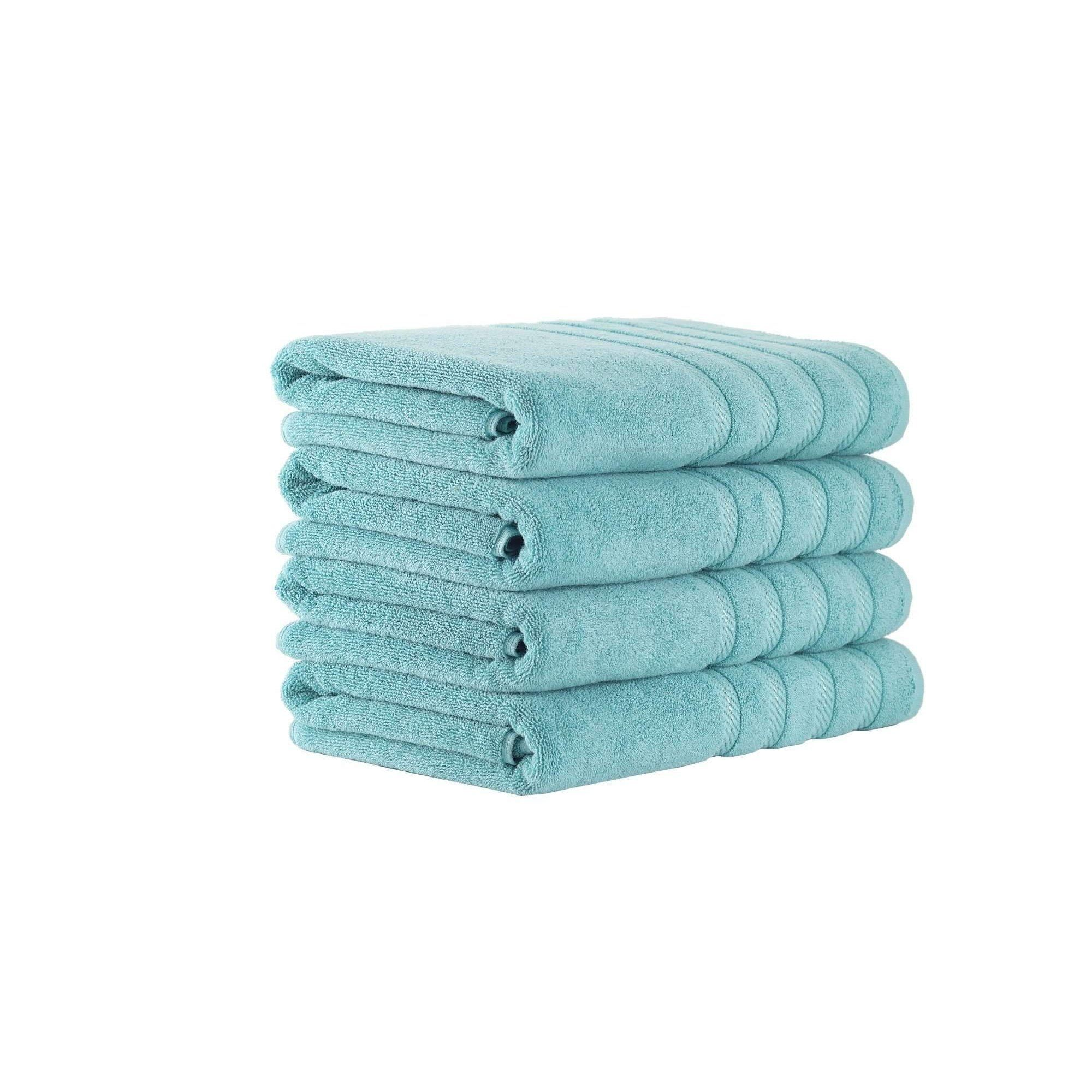 Antalya Collection Turkish Cotton Bath Towels Set of 4