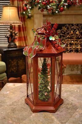 Kristen S Creations Christmas Tree Lanterns Holiday Lanterns Christmas Lanterns Lanterns Decor