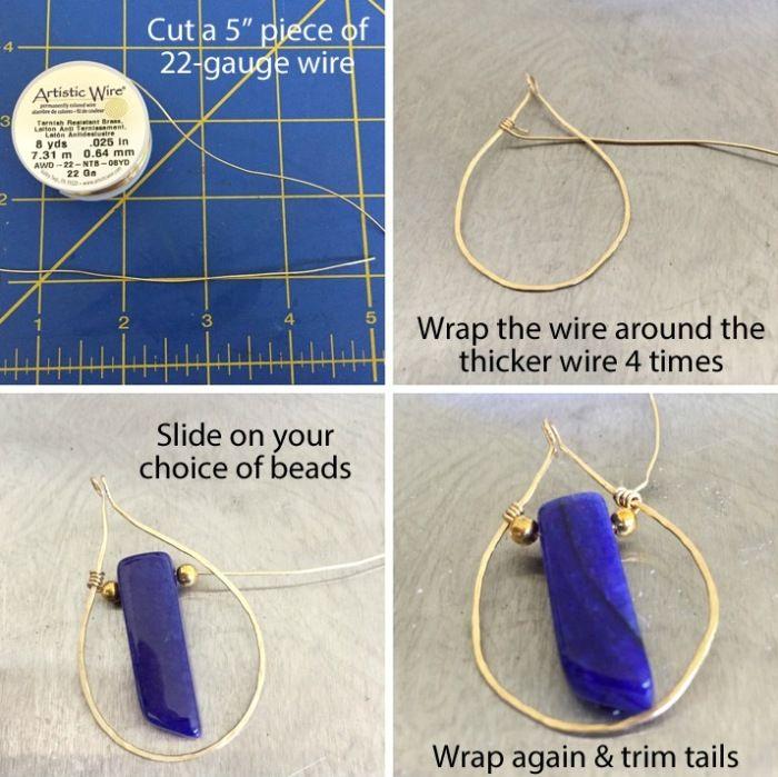 DIY Hammered Earrings   Jewelry Pinn   Jewelry   Pinterest   Wire ...