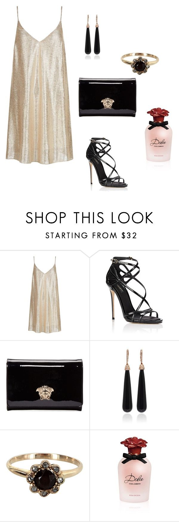 """Untitled #585"" by tati-oliveira ❤ liked on Polyvore featuring New Look, Dolce&Gabbana, Versace, SUSAN FOSTER and Vintage"