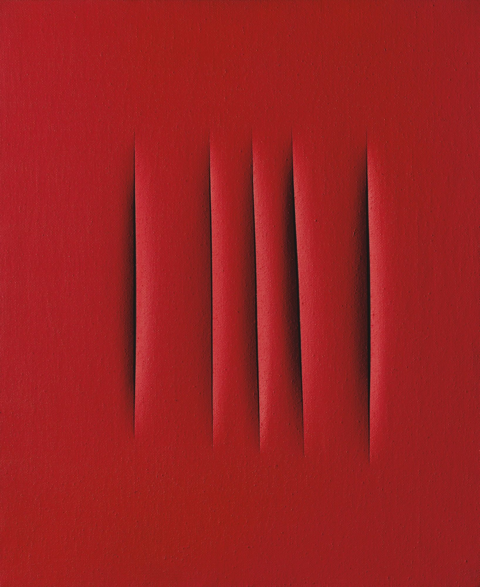 Lucio Fontana Concetto Spaziale Attese 1965 Waterpaint On Canvas 72 X 60 Cm Est Hk 15 24 Million Us 1 9 Contemporary Art Art For Sale Lucio Fontana