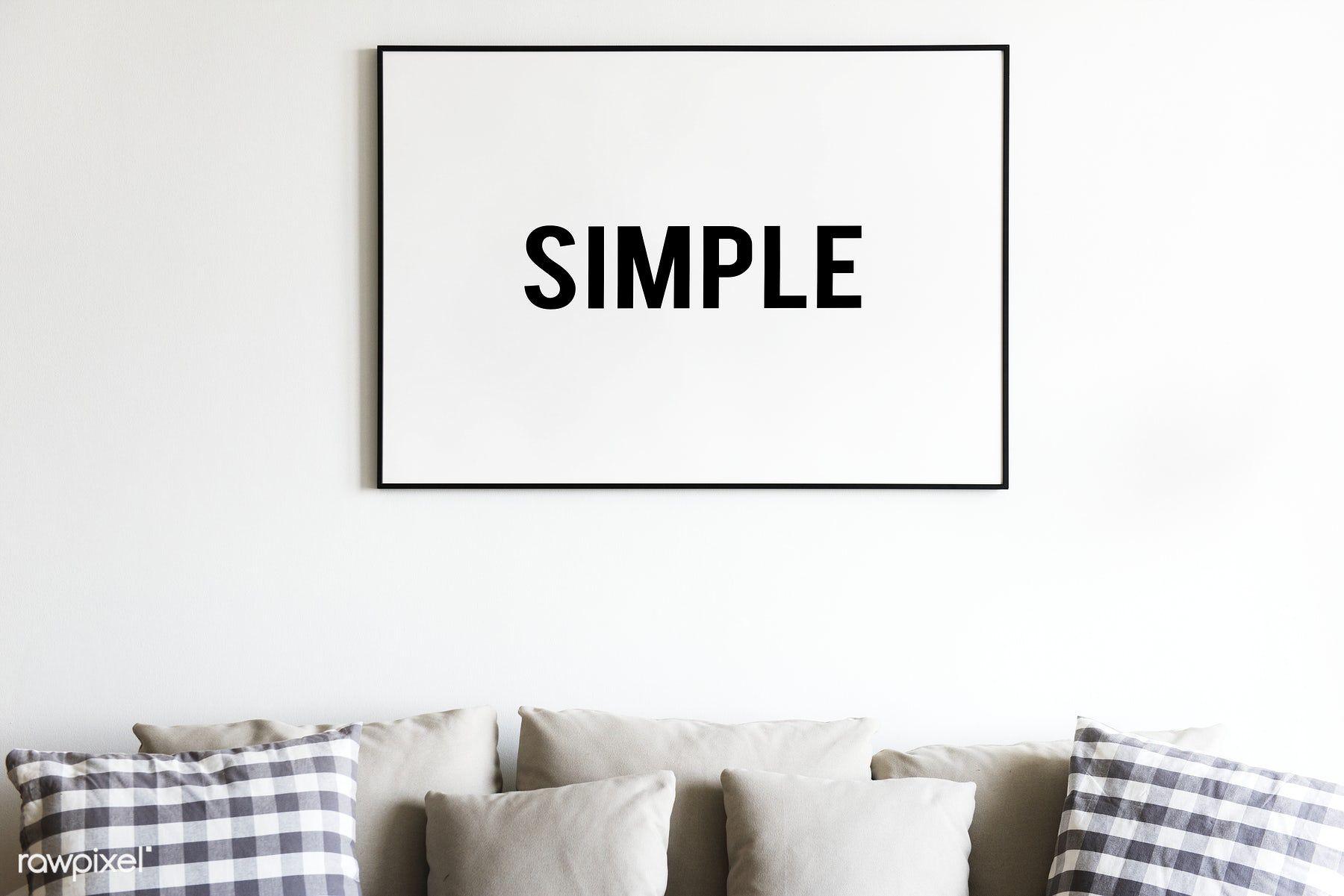 Living Room With Wall Frame Mockup Frames On Wall Frame Mockups Web Design Quotes