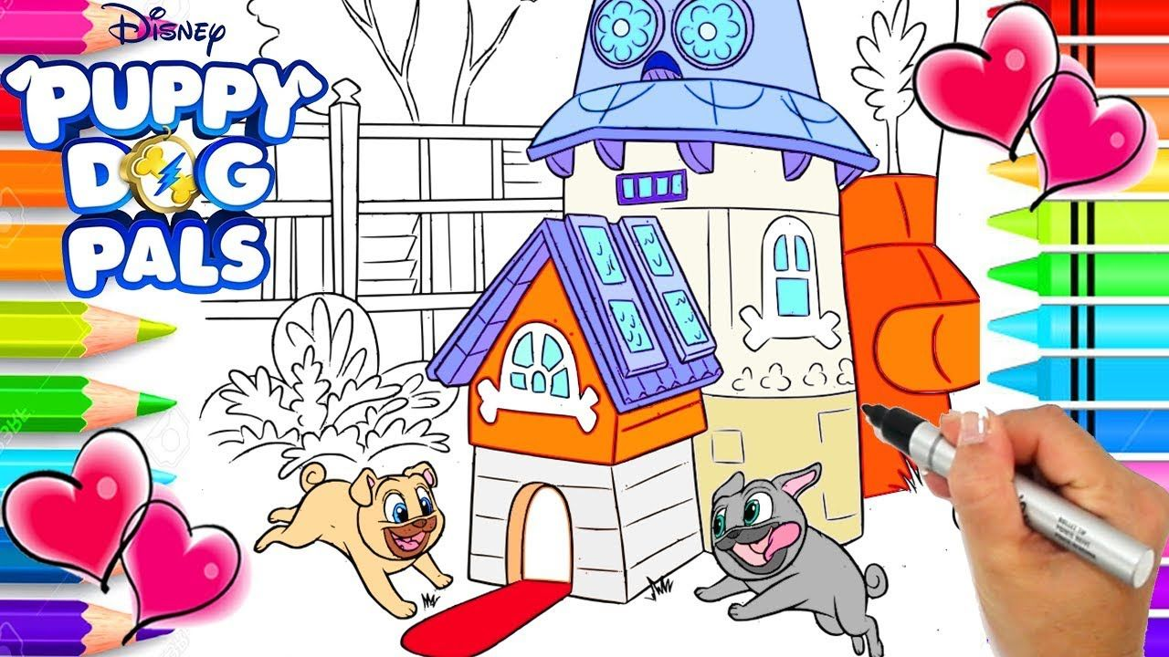 Bingo And Rolly Puppy Dog Pals Clubhouse Coloring Page Puppy Dog Pals Coloring Books Coloring Pages Dogs And Puppies
