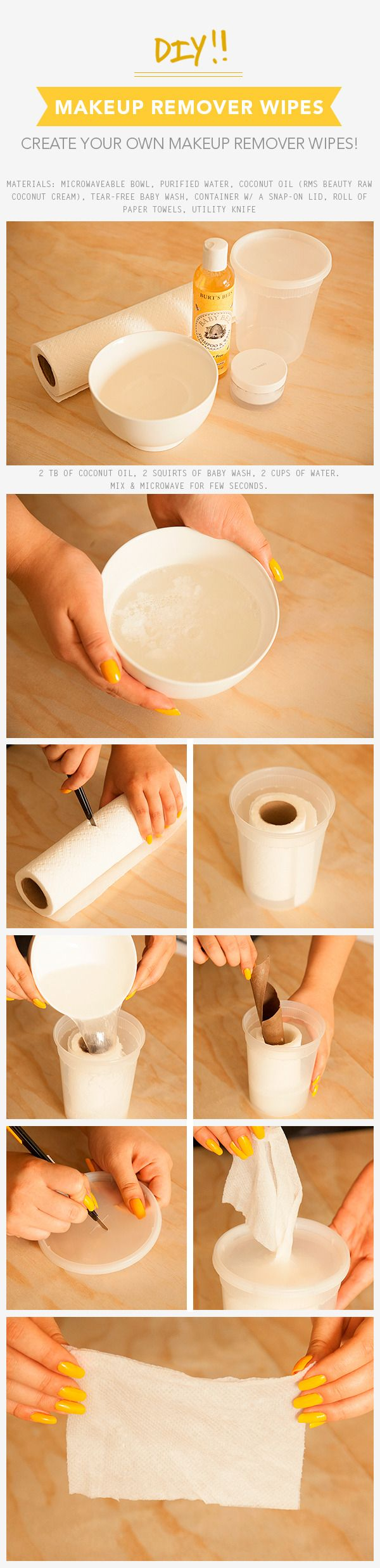 How to Make Your Own Makeup Remover Wipes Diy makeup