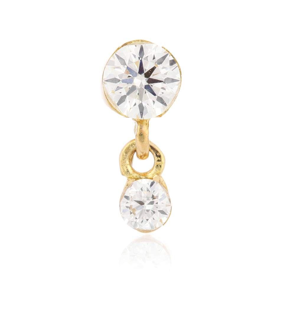 Maria Tash Invisibly Set Diamond Eternity Ring 18kt gold and diamond earring veB4HxSBMI