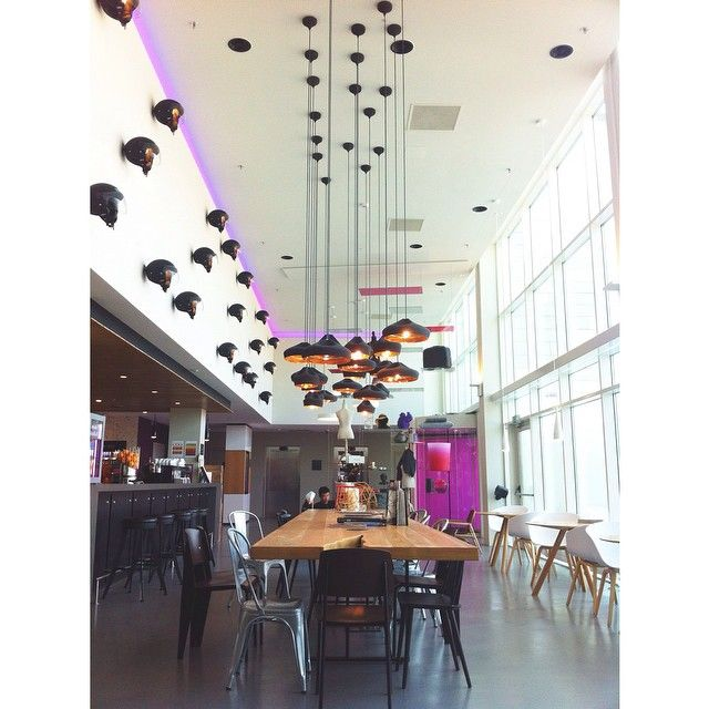 Moxy Milan lobby design by APTO. -------   Feeling home #atthemoxy #hotel #milan #malpensa
