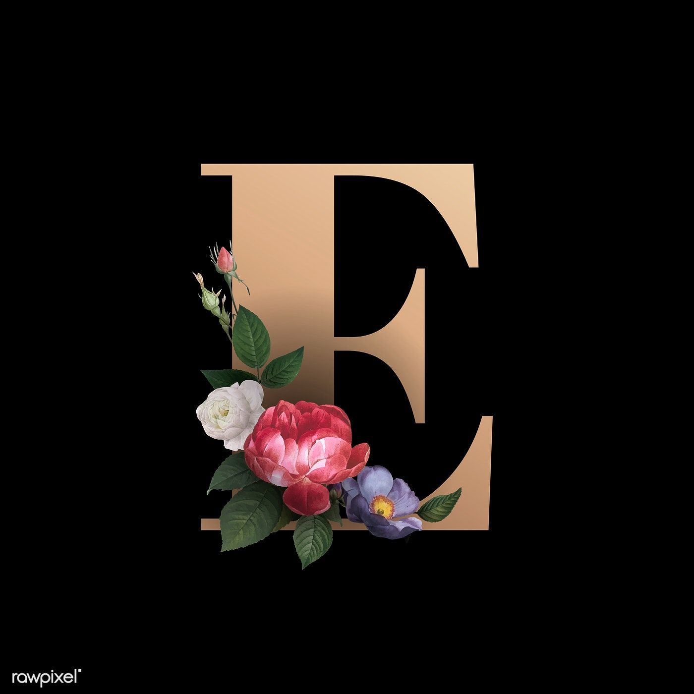 Classic And Elegant Floral Alphabet Font Letter E Vector Free Image By Rawpixel Com Fonts Alphabet Lettering Alphabet Fonts Lettering Fonts