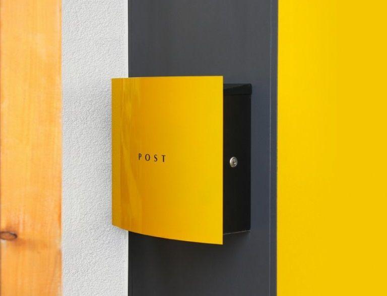 8195cda3428e06 Letterbox Dessau by designer Wolfgang Beiler-Schlehaider Design Briefkasten