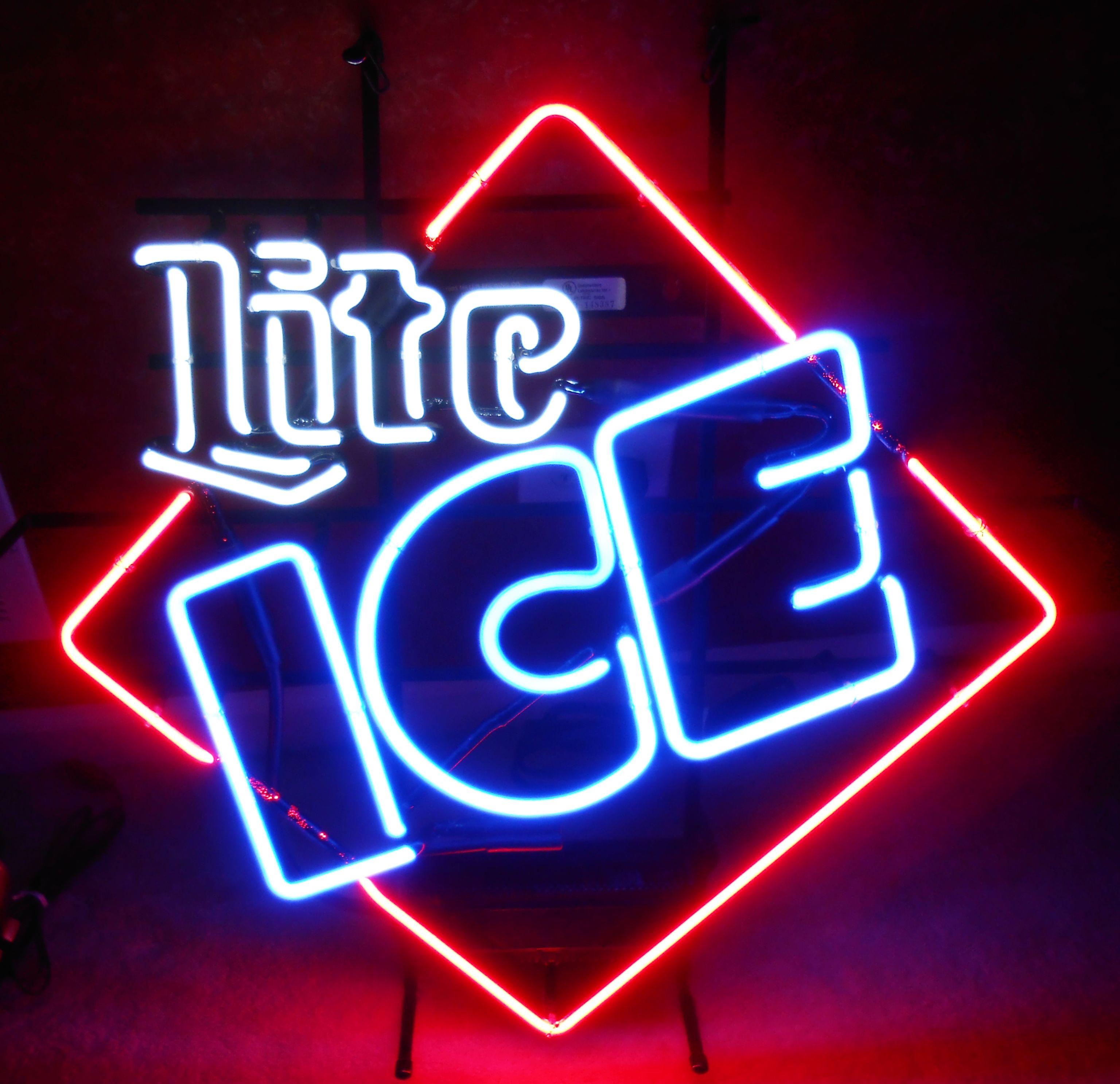 LITE ICE NEON BAR SIGN, Circa 2007