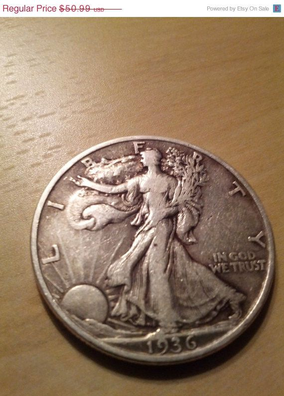 Five Walking Liberty Silver Half Dollar 1930s By Drewscollectibles 47 00 Moedas Moedas Antigas Moedas Raras