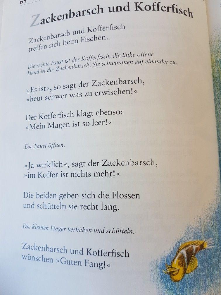 Zackenbarsch und Kofferfisch #fingerspiel #krippe #kita ...