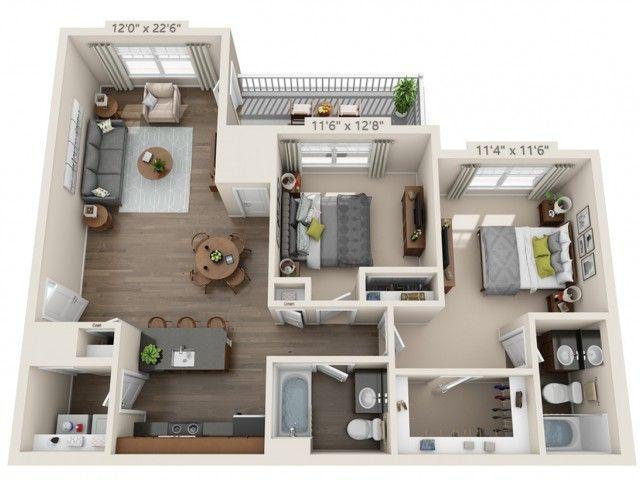 for the 2 Bedroom floor plan #GreatHomeDecorIdeasForTheBedroom