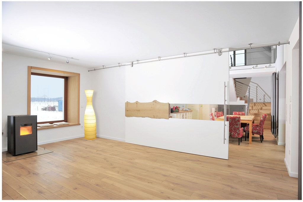 Raumteiler und schiebewand wohnzimmer esszimmer raumteiler - Trennwand glas wohnzimmer ...