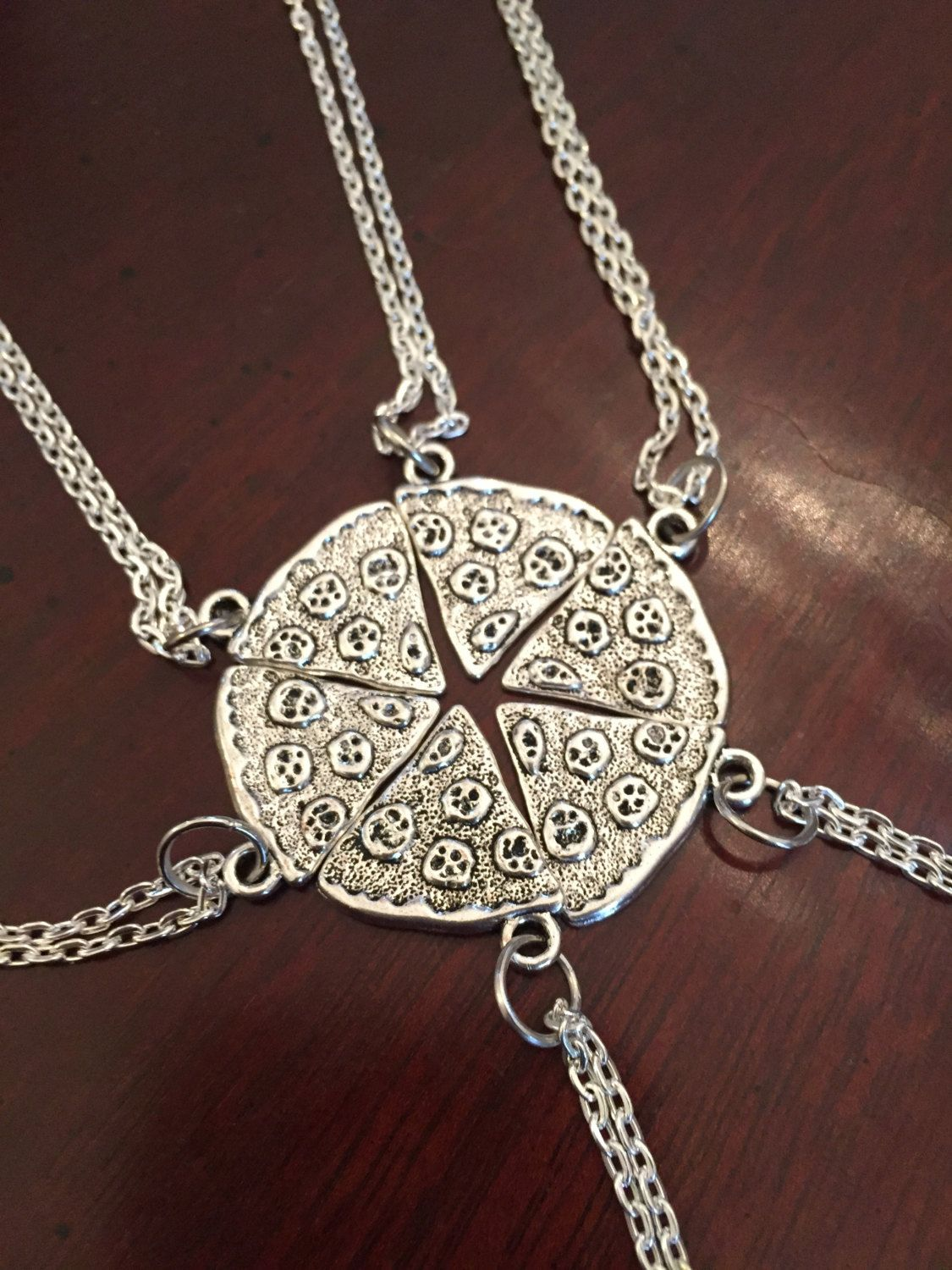 Pizza Slice Necklace, Best Friend Necklace,. ????zoom   shiny things ...