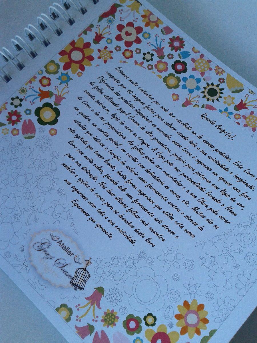 livro de colorir para adultos com 40 folhas impressas em apenas uma