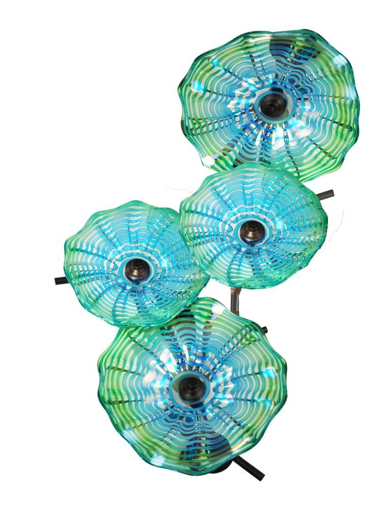 Dale Tiffany Aw14307 Waterfront Wall Art Decor 4 Favrile In Dark Bronze With Hand Blown Art Glass Shade Is Made B Glass Wall Art Bronze Wall Art Wall Art Decor
