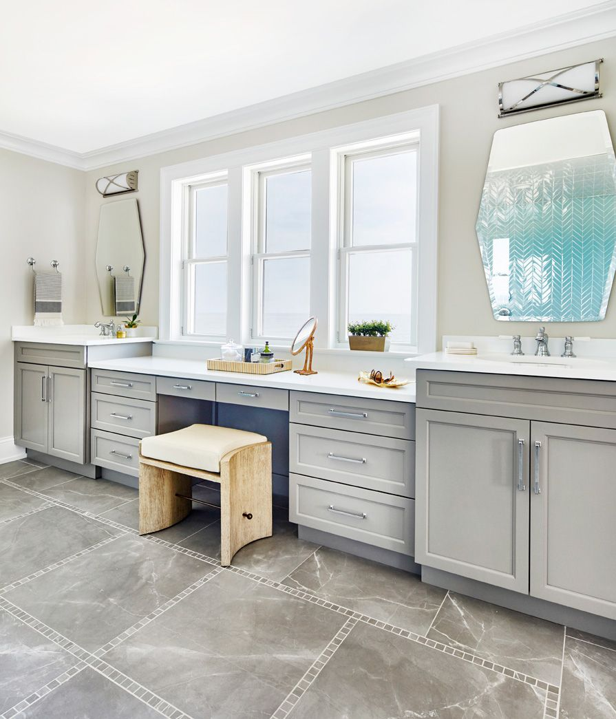 Master Bathroom With Mosaic Tile And His Hers Sinks Seaside Sophistication Toledo Geller Accent Wall In Kitchen Kitchen Design Styles Kitchen Cabinet Trends