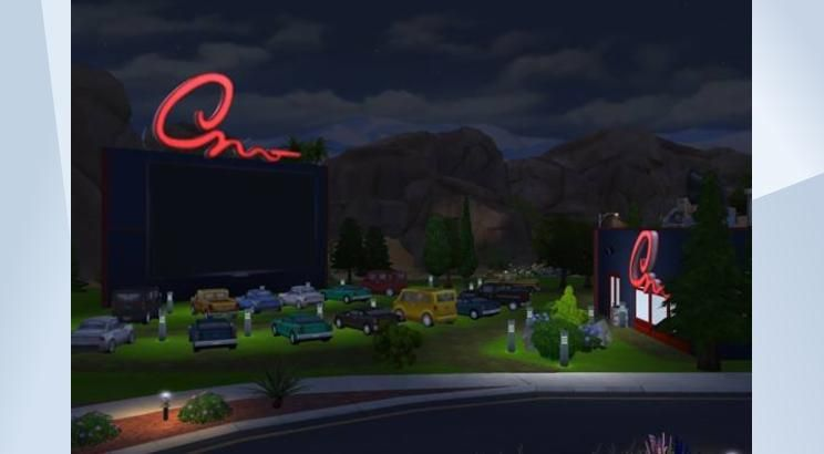 Check out this lot in The Sims 4 Gallery! - Welcome to the Drive In Movie Theatre. Pick a spot. Head on over to concession stand to get some treats! #NOCC #MOO #drivein #movie #theatre #cinema #cars #concession #treats #eats #food #restrooms #washrooms #bathrooms #fun #activity #datenight #date #romantic #makeout #car #truck #van #nightout #bigscreen #tv #cool #awesome #sweet #retail #work #job #entertainment