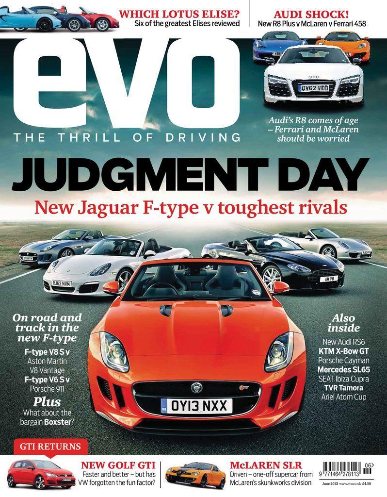 Evo Back Issue June 2013 Digital In 2021 Jaguar F Type New Jaguar F Type Evo