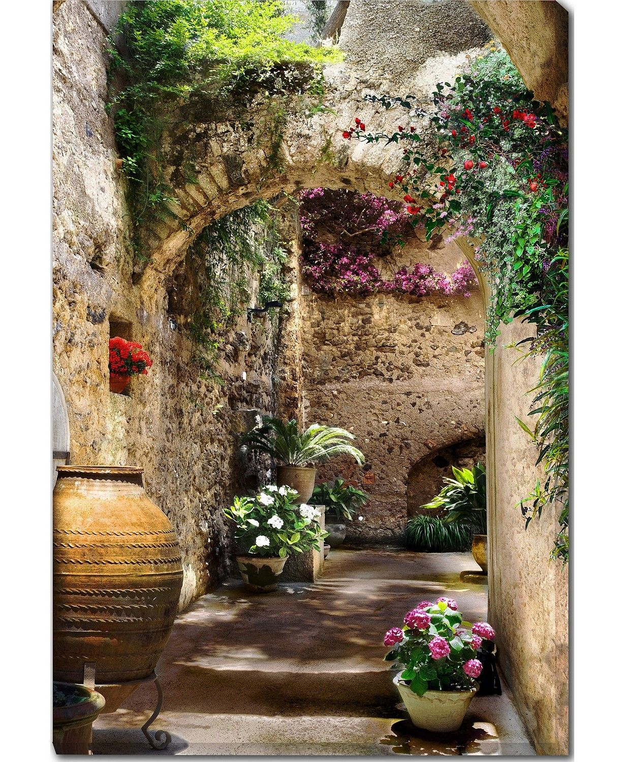 """West of the Wind Aragonese Arches Canvas Art, 30"""" x 40"""
