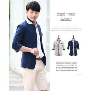 Buy 'DANGOON – Contrast-Trim 3/4-Sleeve Single-Button Jacket' with Free International Shipping at YesStyle.com. Browse and shop for thousands of Asian fashion items from South Korea and more!