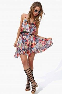 Hippie floral dress