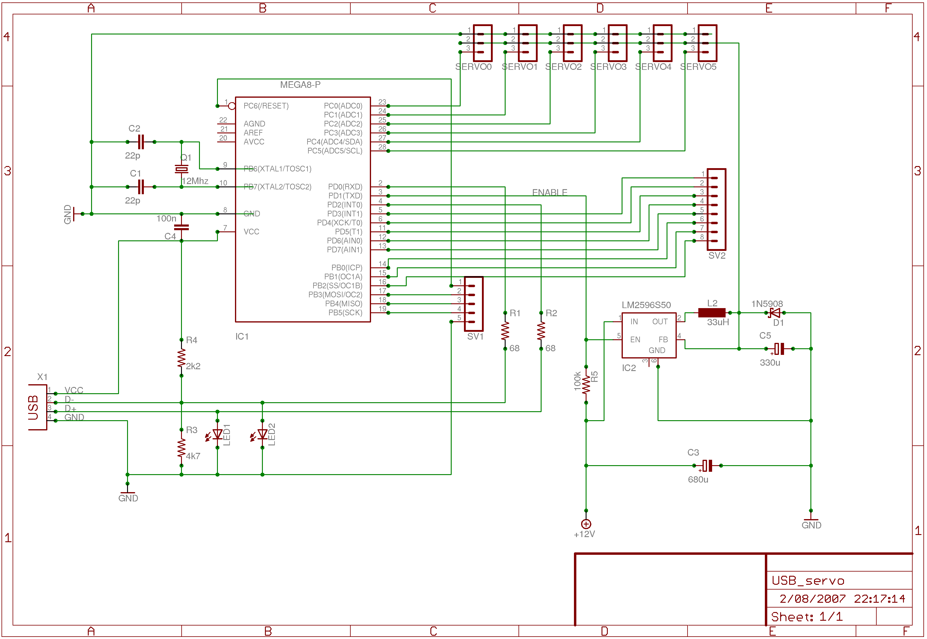 USB-servo-2 schematic | DIY and crafts | Pic microcontroller ... on