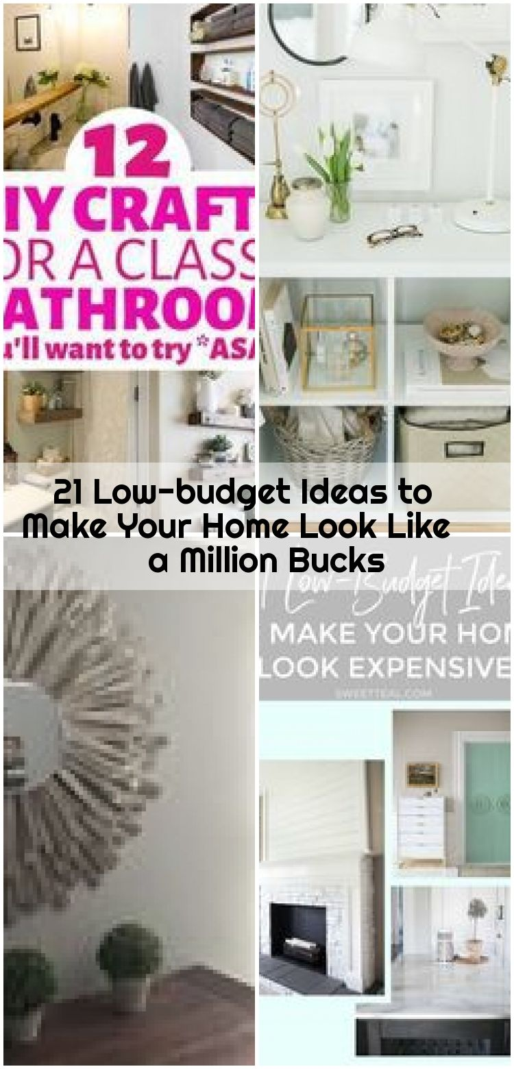 21 Low-budget Ideas to Make Your Home Look Like a Million Bucks , 21 Low-budget Ideas to Make Your Home Look Like a Million Bucks (for next to nothing!) These home decor tips are perfect for anyone!... ,  #Bucks #Home #Ideas #Lowbudget #Million