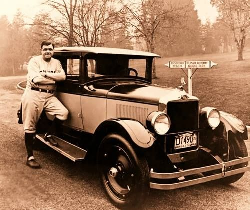Babe Ruth 1922 Pierce Arrow 33 4 Passenger Touring Sedan