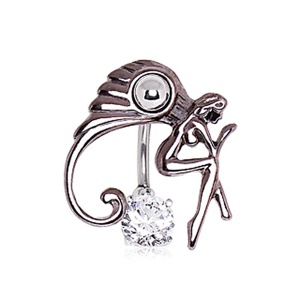 Belly piercing 2018  L Surgical Steel Fairy Top Dangle Navel Ring in   jewelry