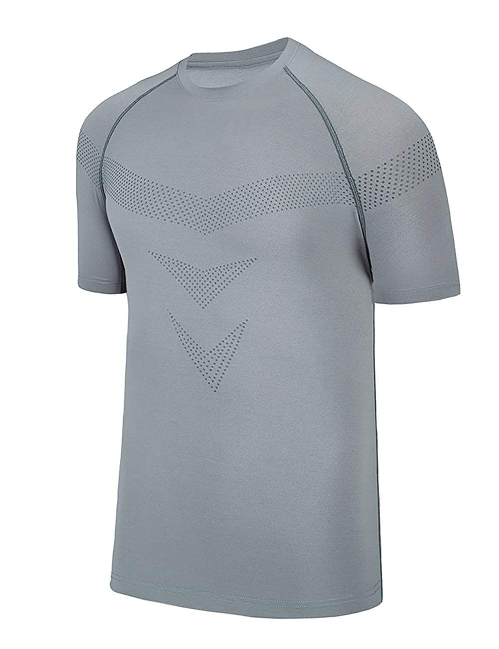 Cool Compression Men Sport Quick Dry Running Gym Fitness Short Sleeves for Man