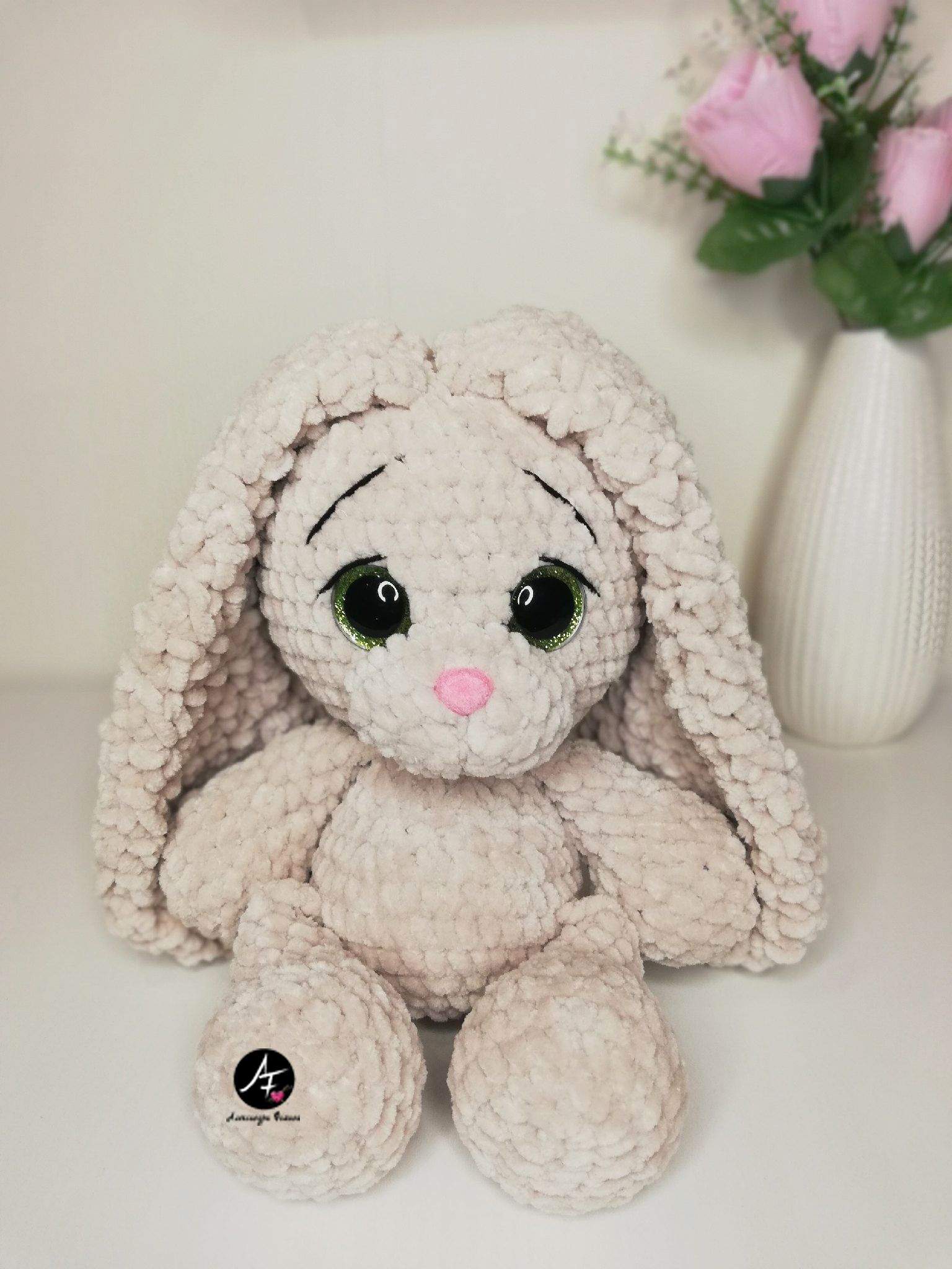 Rabbit stuffed toy soft plush Crochet animals, Cute baby
