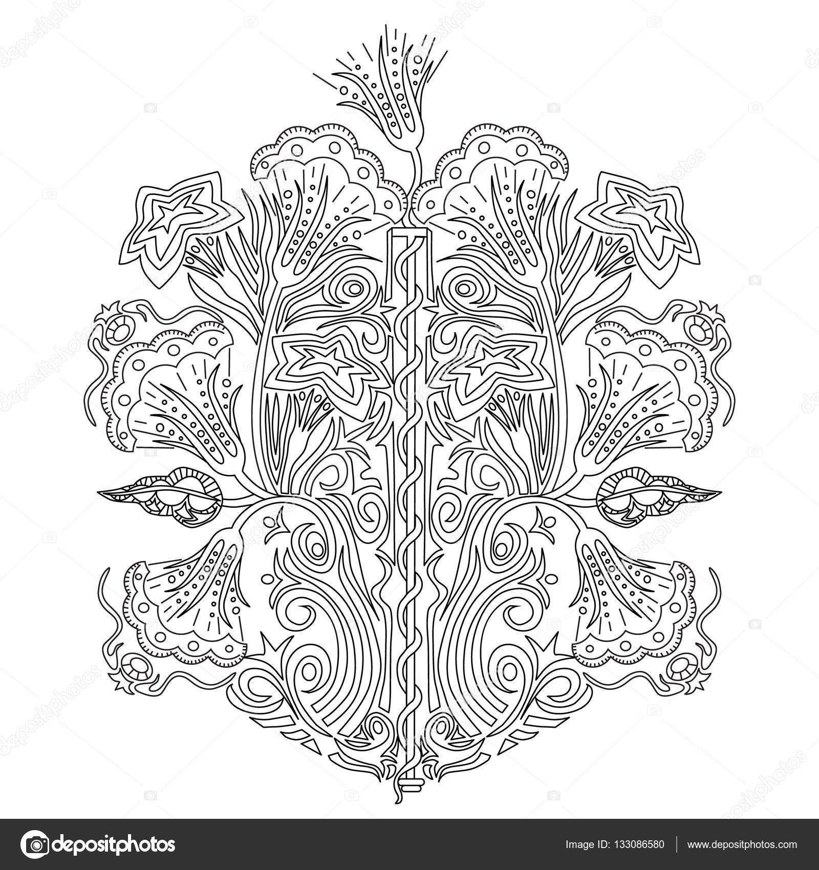 Descargar - Ornamento de la flor de dibujado a mano para adultos ...