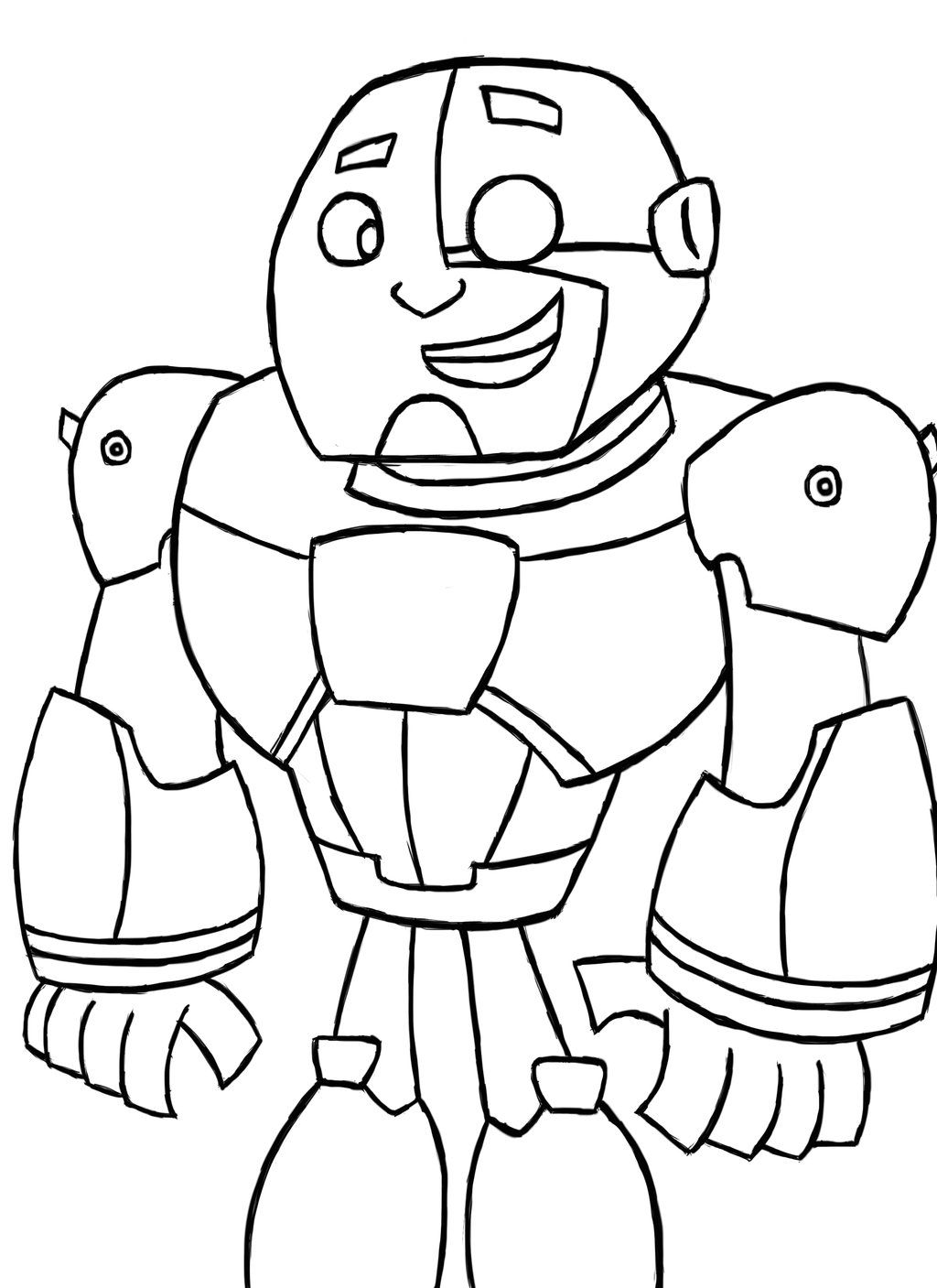 Coloring. Cyborg Teen Titans Go Coloring Pages Image Gallery Lapse ...