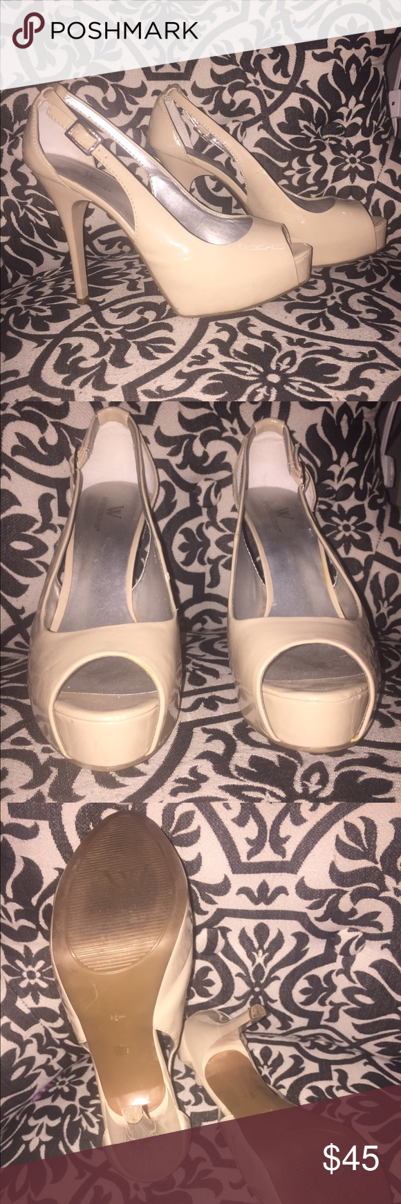 Worthington Nude Pumps These shoes are fabulous! My Mom originally got them, and they were too big for her. Now, they are too small for me! Size 8, worn but in great condition! No trades! Make me an offer! Worthington Shoes Heels