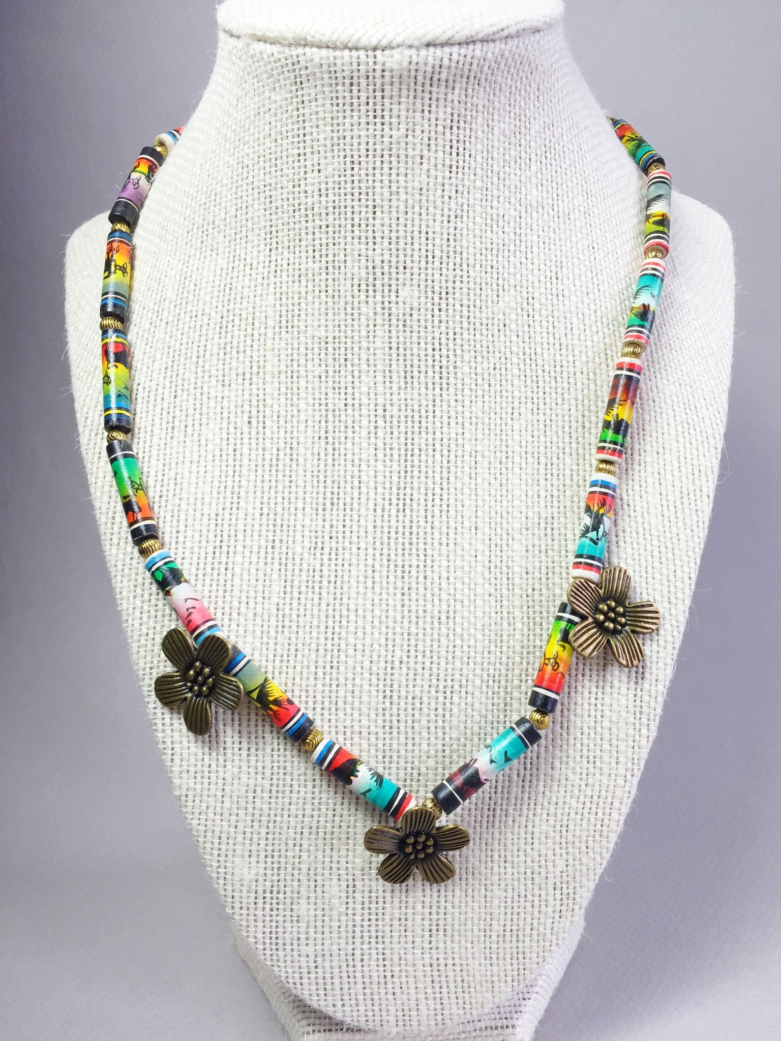Peruvian Hand Painted Necklace