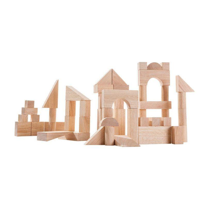 Kids Toys 50 Unit Blocks Natural