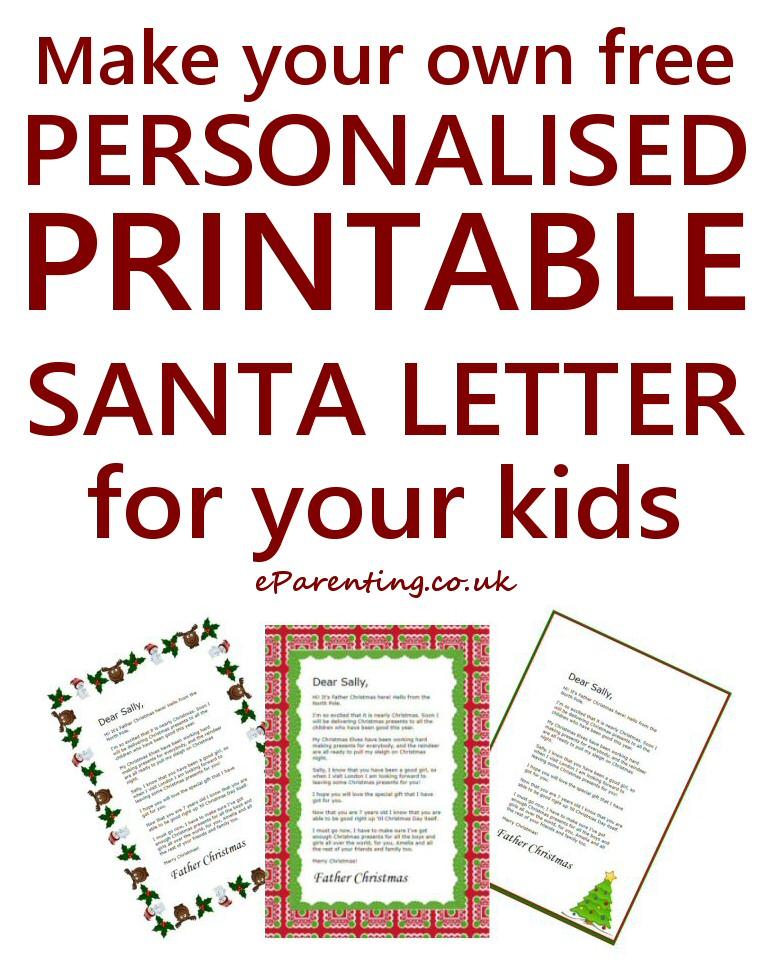 Free Printable Father Christmas Letters Father christmas