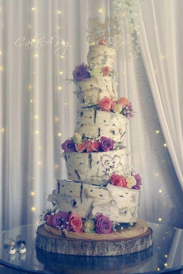 Birch Wood Wedding Cake Bakery Tampa, FL