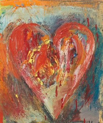 Jim Dine III - hearts The Month of June no.2