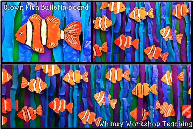 Whimsy Teaching Clown Fish and Bees Clown fish